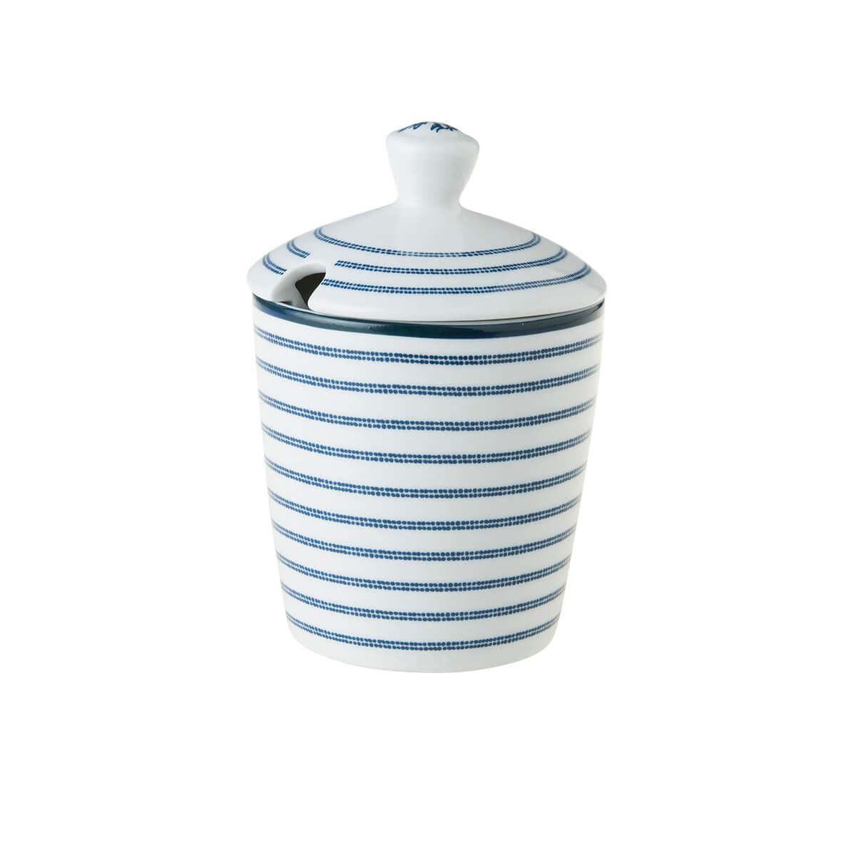 Онлайн каталог PROMENU: Сахарница фарфоровая Laura Ashley BLUEPRINT, высота 12 см, белый в синюю полоску                               178682