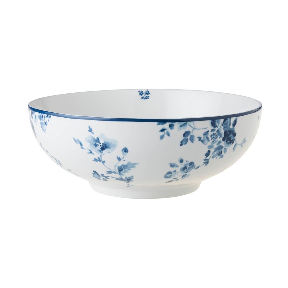 Онлайн каталог PROMENU: Салатник фарфоровый Laura Ashley BLUEPRINT, 23 см, белый с синими розами Laura Ashley 178680