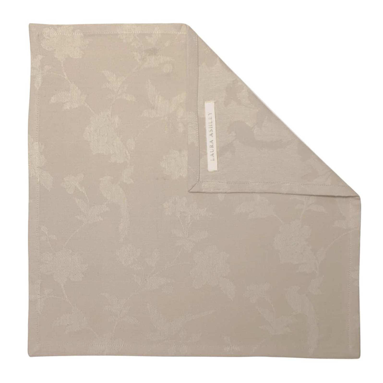 Онлайн каталог PROMENU: Салфетка Laura Ashley HERITAGE, 45х45 см, бежевый с цветами и птичками                               180994