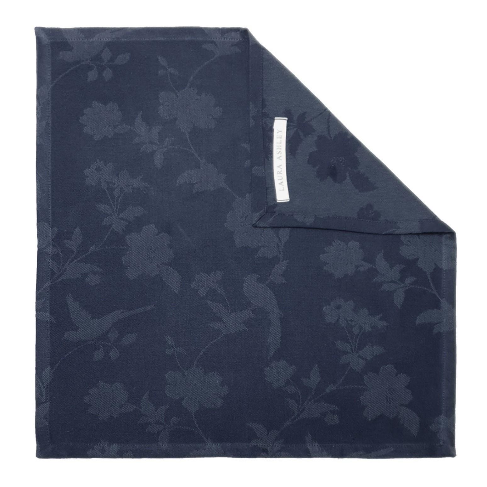 Онлайн каталог PROMENU: Салфетка Laura Ashley HERITAGE, 45х45 см, синий с цветами и птичками                               180993