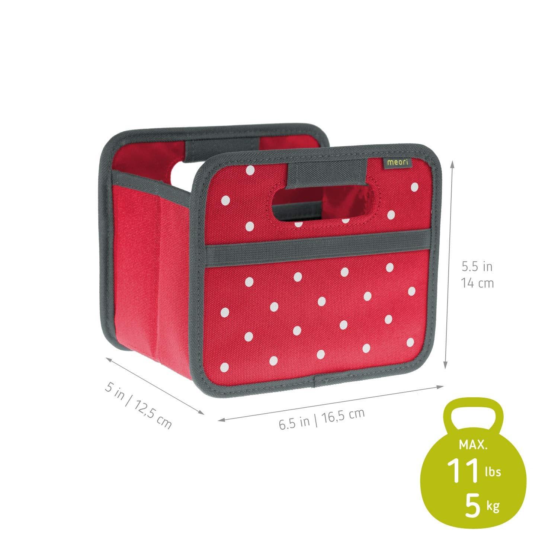 Складной короб для хранения, размер мини Meori CLASSIC Red Dots, 16,5x14x12,5 см, красный в белую точку Meori A100301 фото 8