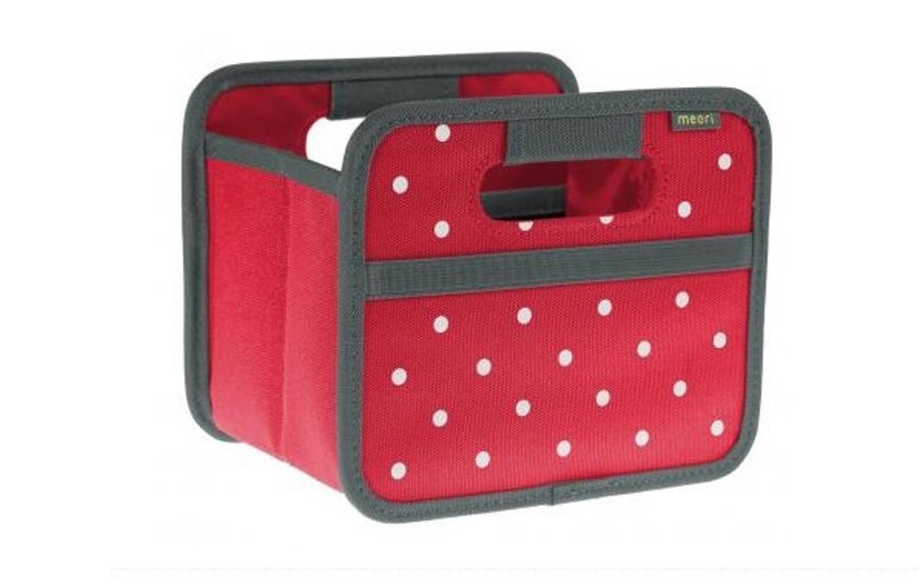 Складной короб для хранения, размер мини Meori CLASSIC Red Dots, 16,5x14x12,5 см, красный в белую точку Meori A100301 фото 7