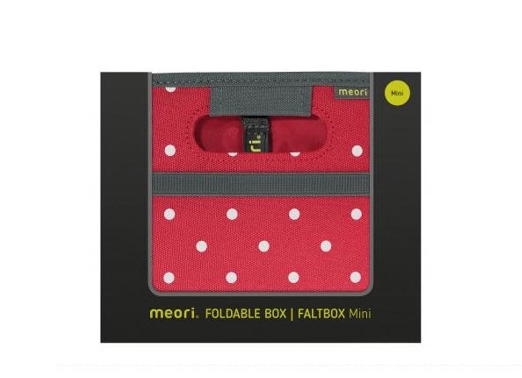 Складной короб для хранения, размер мини Meori CLASSIC Red Dots, 16,5x14x12,5 см, красный в белую точку Meori A100301 фото 9