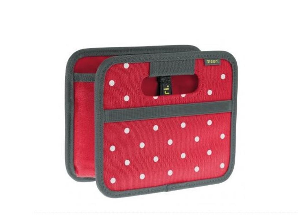 Складной короб для хранения, размер мини Meori CLASSIC Red Dots, 16,5x14x12,5 см, красный в белую точку Meori A100301 фото 6