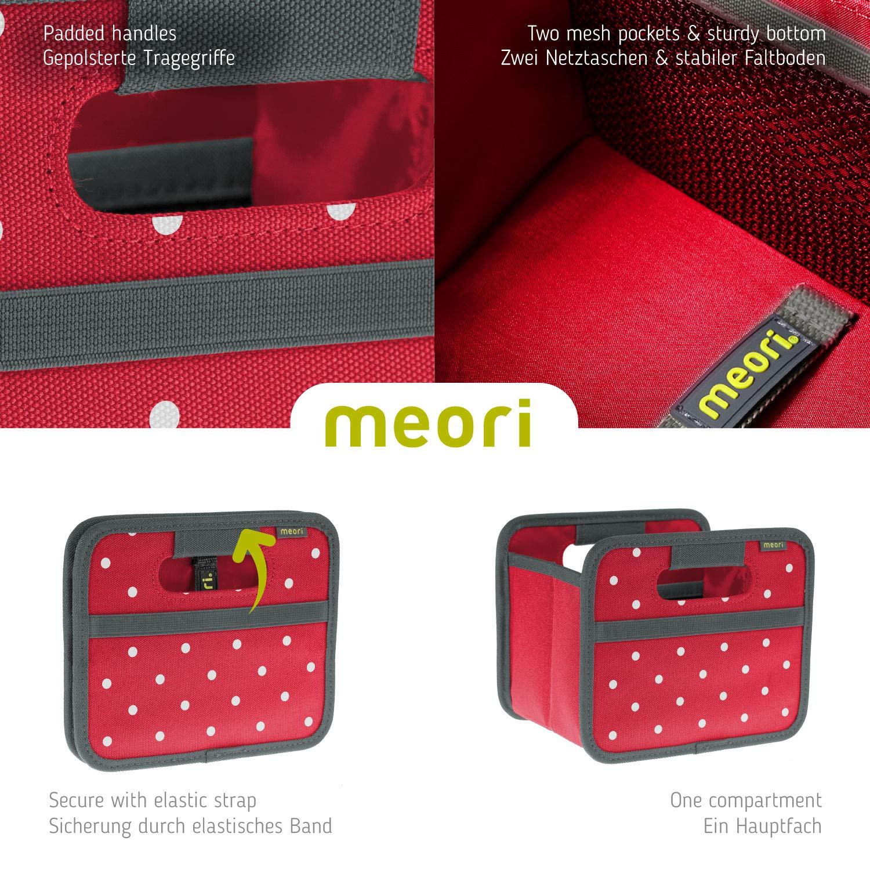 Складной короб для хранения, размер мини Meori CLASSIC Red Dots, 16,5x14x12,5 см, красный в белую точку Meori A100301 фото 4