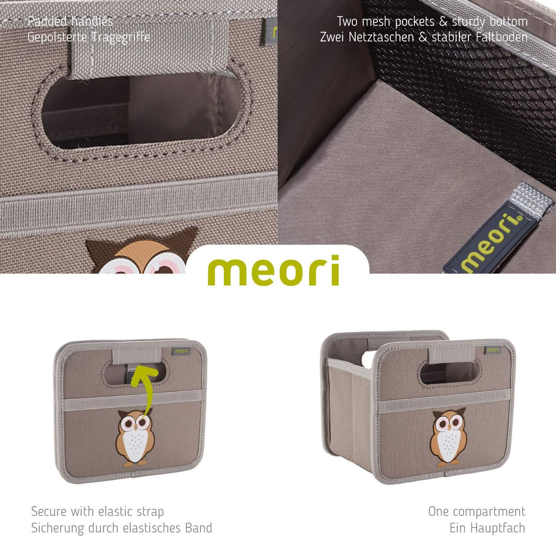 Складной короб для хранения, размер мини Meori CLASSIC Palm Taupe, 16,5x14x12,5 см, серый с совенком Meori A100716 фото 4