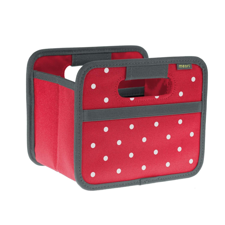 Онлайн каталог PROMENU: Складной короб для хранения, размер мини Meori CLASSIC Red Dots, 16,5x14x12,5 см, красный в белую точку Meori A100301