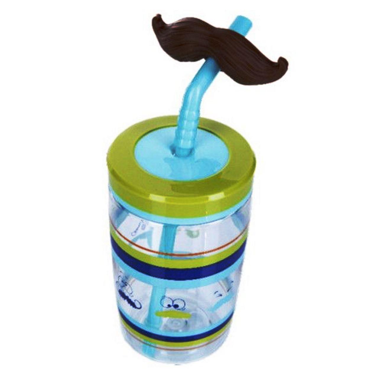 Онлайн каталог PROMENU: Бутылка детская с трубочкой Contigo FUNNY STRAW,, объем 0,47 л, зеленый Contigo 2094993
