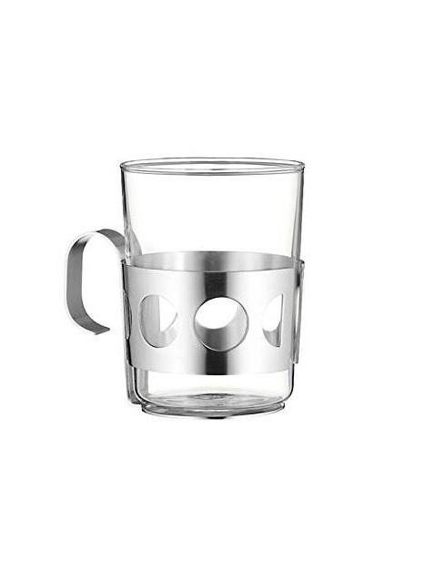 Стакан для чая с подстаканником WMF COFFEE AND TEA, серебристый WMF 06 3616 6030 фото 1