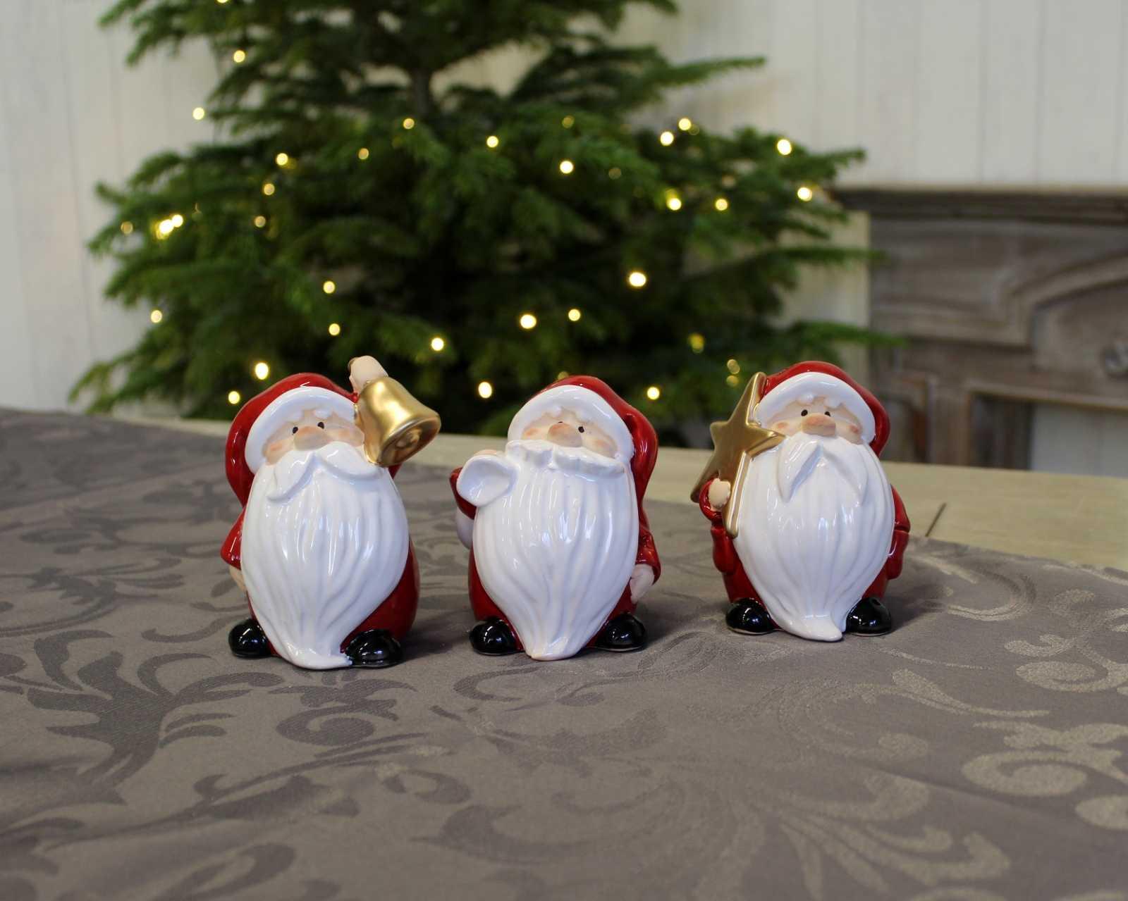 Онлайн каталог PROMENU: Cтатуэтка Санта-Клауса Goldbach, 8х7х11 см, красный, в ассортименте Goldbach 64 2333