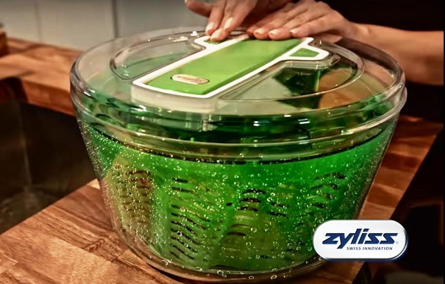 Сушка для зелени Zyliss Smart Touch 20x20x14 см, зеленая Zyliss E940007 фото 1