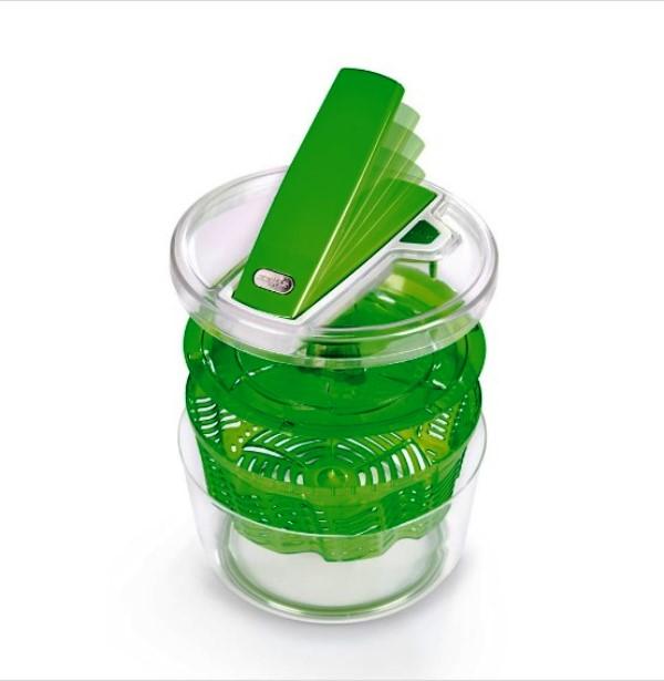 Сушка для зелени Zyliss Smart Touch 20x20x14 см, зеленая Zyliss E940007 фото 5