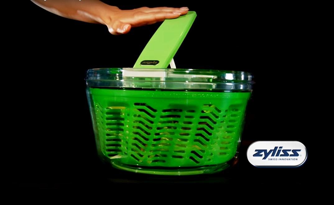 Сушка для зелени Zyliss Smart Touch 20x20x14 см, зеленая Zyliss E940007 фото 11