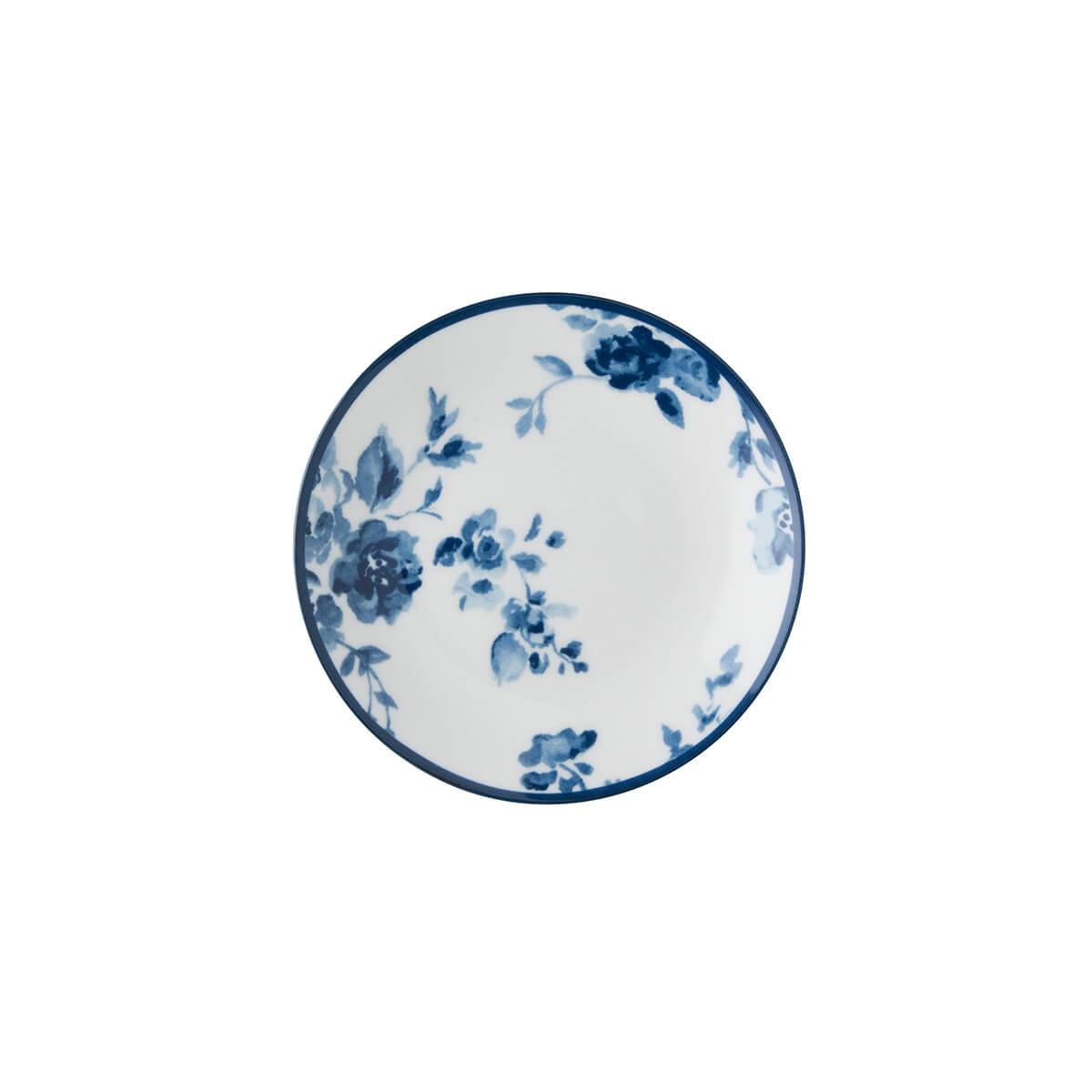 Онлайн каталог PROMENU: Тарелка маленькая фарфоровая Laura Ashley BLUEPRINT, 12 см, белый с синими розами                               178271