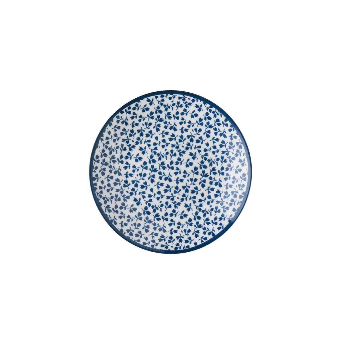 Онлайн каталог PROMENU: Тарелка маленькая фарфоровая Laura Ashley BLUEPRINT, 12 см, белый в синий мелкий цветок                               178274
