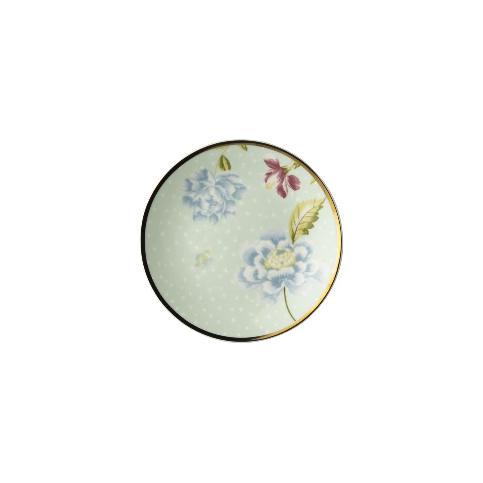 """Онлайн каталог PROMENU: Тарелка пирожковая """"Цветы"""" Laura Ashley HERITAGE, диаметр 12 см, мятный с цветами                                   180431"""