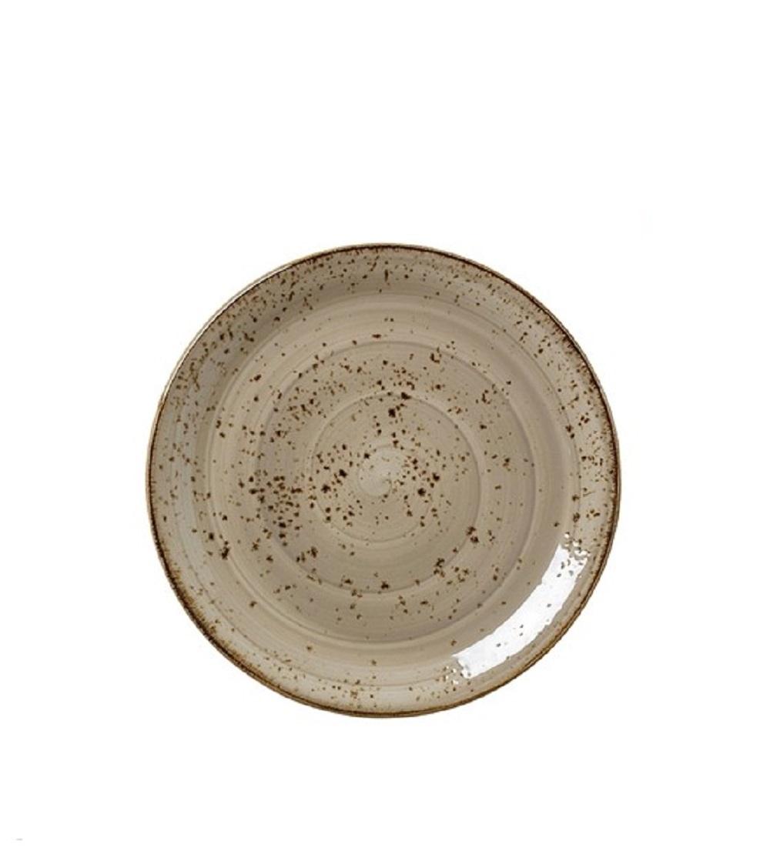 Онлайн каталог PROMENU: Тарелка круглая фарфоровая Steelite CRAFT PORCINI, диаметр 20,3 см, бежевый