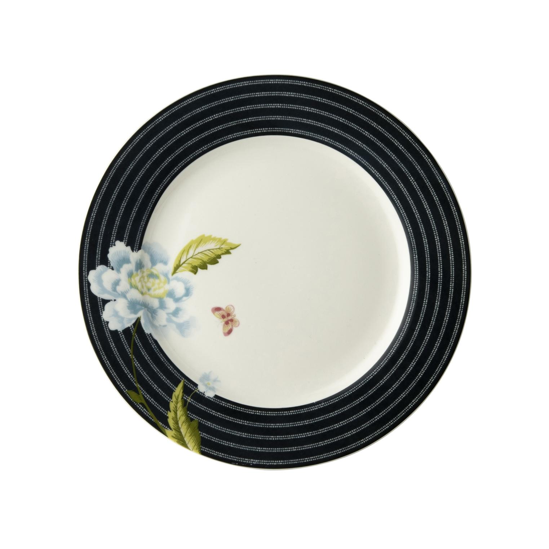 "Онлайн каталог PROMENU: Тарелка десертная ""Цветок"" Laura Ashley HERITAGE, диаметр 20 см, темно-синий с цветком                                   180449"
