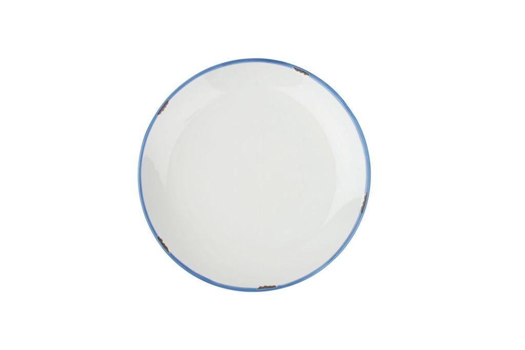 Онлайн каталог PROMENU: Тарелка с синей окантовкой Canvas Home Tinware, диаметр 20 см, белый                               C28-SP-WH