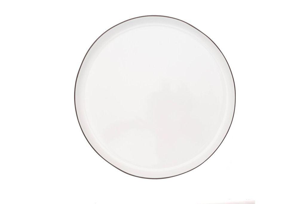 Тарелка с черной окантовкой Canvas Home ABBESSES, диаметр 26,7 см, белый Canvas Home                                                  C37-PLT-LG-BLACK фото 0