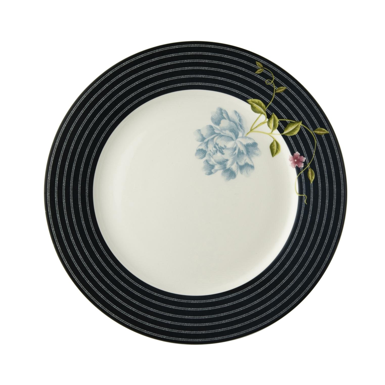 """Онлайн каталог PROMENU: Тарелка основная """"Цветок"""" Laura Ashley HERITAGE, диаметр 26 см, темно-синий с цветком                               180458"""