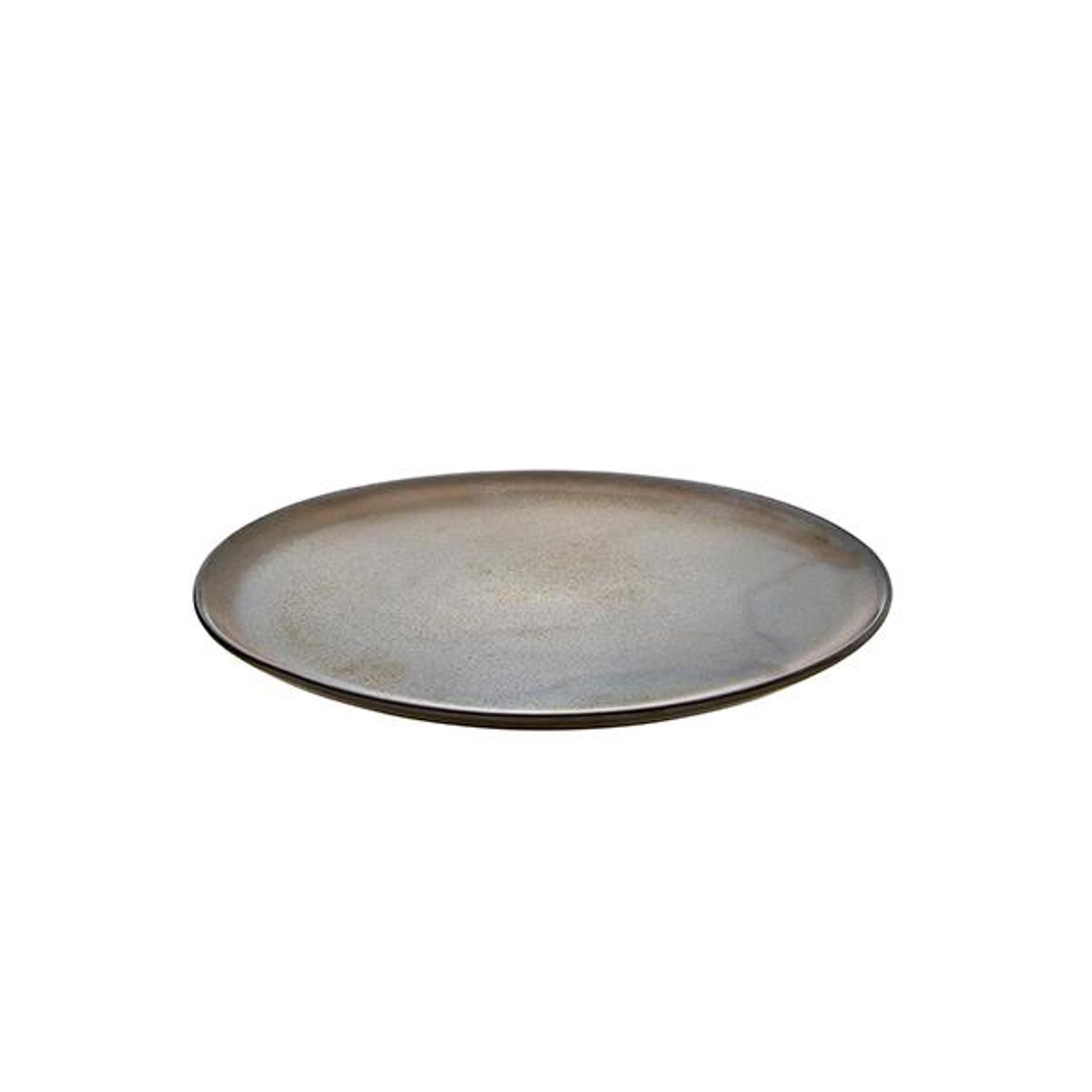 Онлайн каталог PROMENU: Тарелка Aida RAW METALLIC BROWN, диаметр 28 см, коричневый                               15562