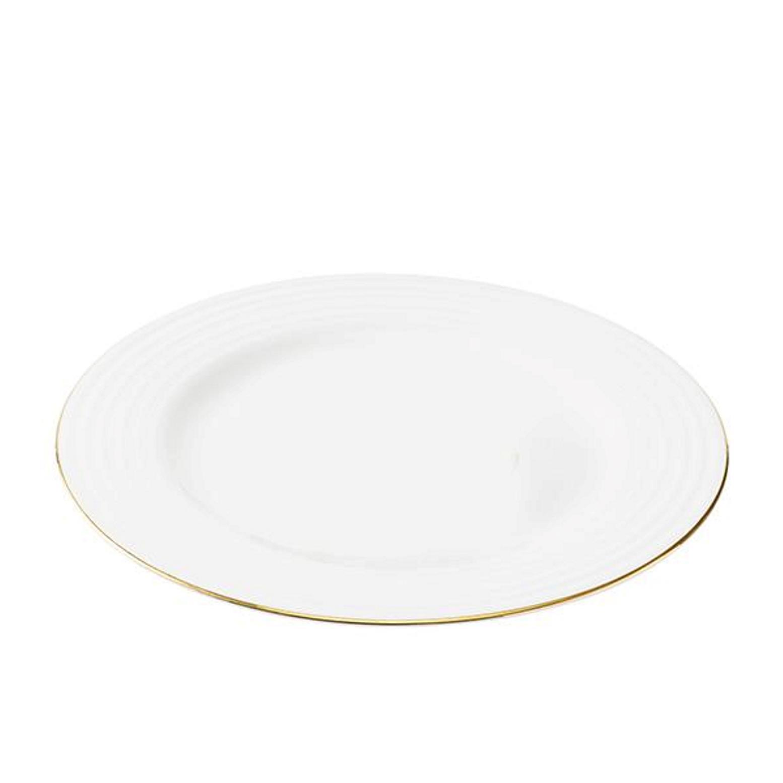Онлайн каталог PROMENU: Тарелка Aida PASSION, диаметр 28 см, белый с золотистой каймой                               19473