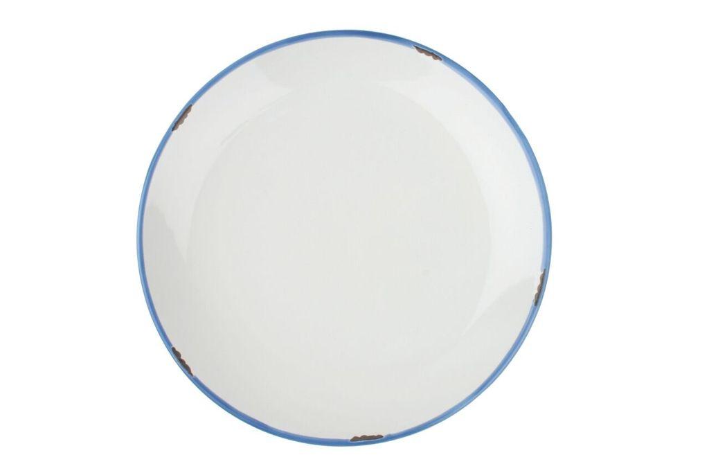 Онлайн каталог PROMENU: Тарелка с синей окантовкой Canvas Home Tinware, диаметр 28 см, белый                               C28-DP-WH