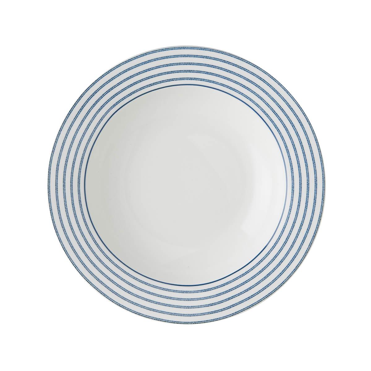 Онлайн каталог PROMENU: Тарелка глубокая фарфоровая Laura Ashley BLUEPRINT, 22 см, белый в синюю полоску                               178270
