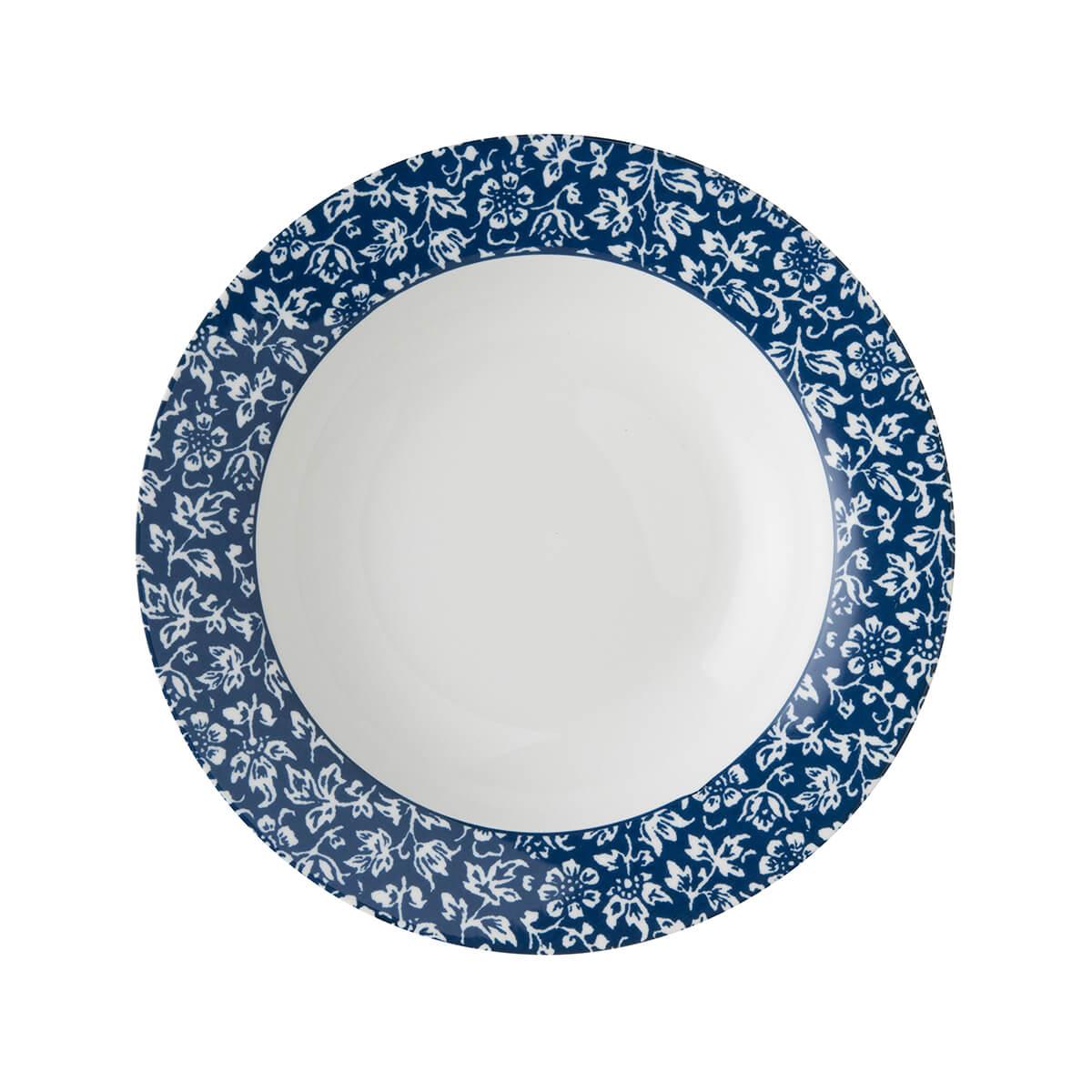 Онлайн каталог PROMENU: Тарелка глубокая фарфоровая Laura Ashley BLUEPRINT, 22 см, синий в мелкий цветок                               178268