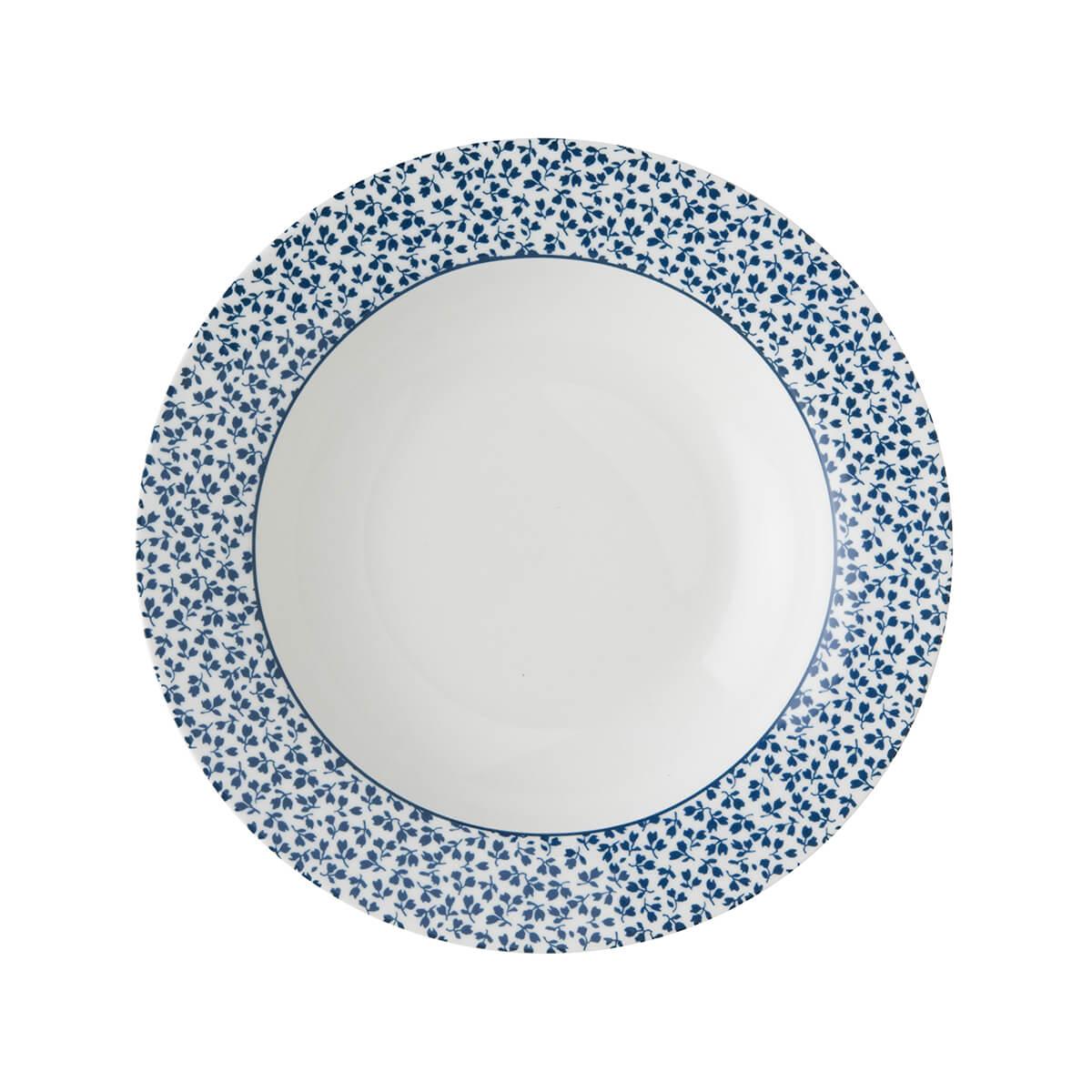 Онлайн каталог PROMENU: Тарелка глубокая фарфоровая Laura Ashley BLUEPRINT, 22 см, белый в синий мелкий цветок                               178269