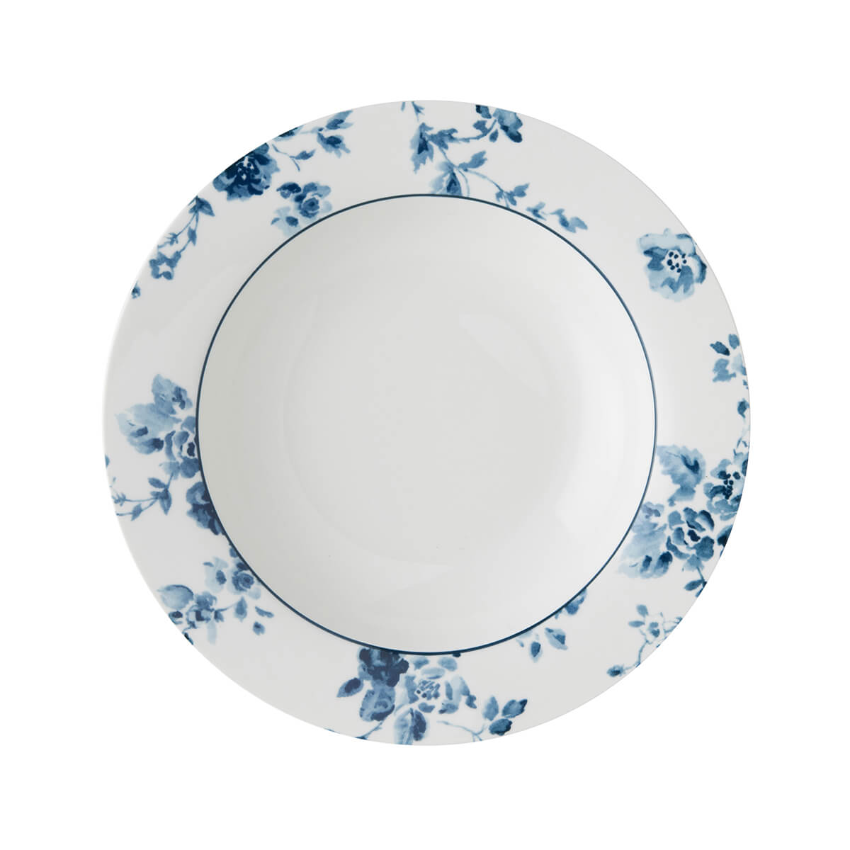 Онлайн каталог PROMENU: Тарелка глубокая фарфоровая Laura Ashley BLUEPRINT, 22 см, белый с синими розами                               178267