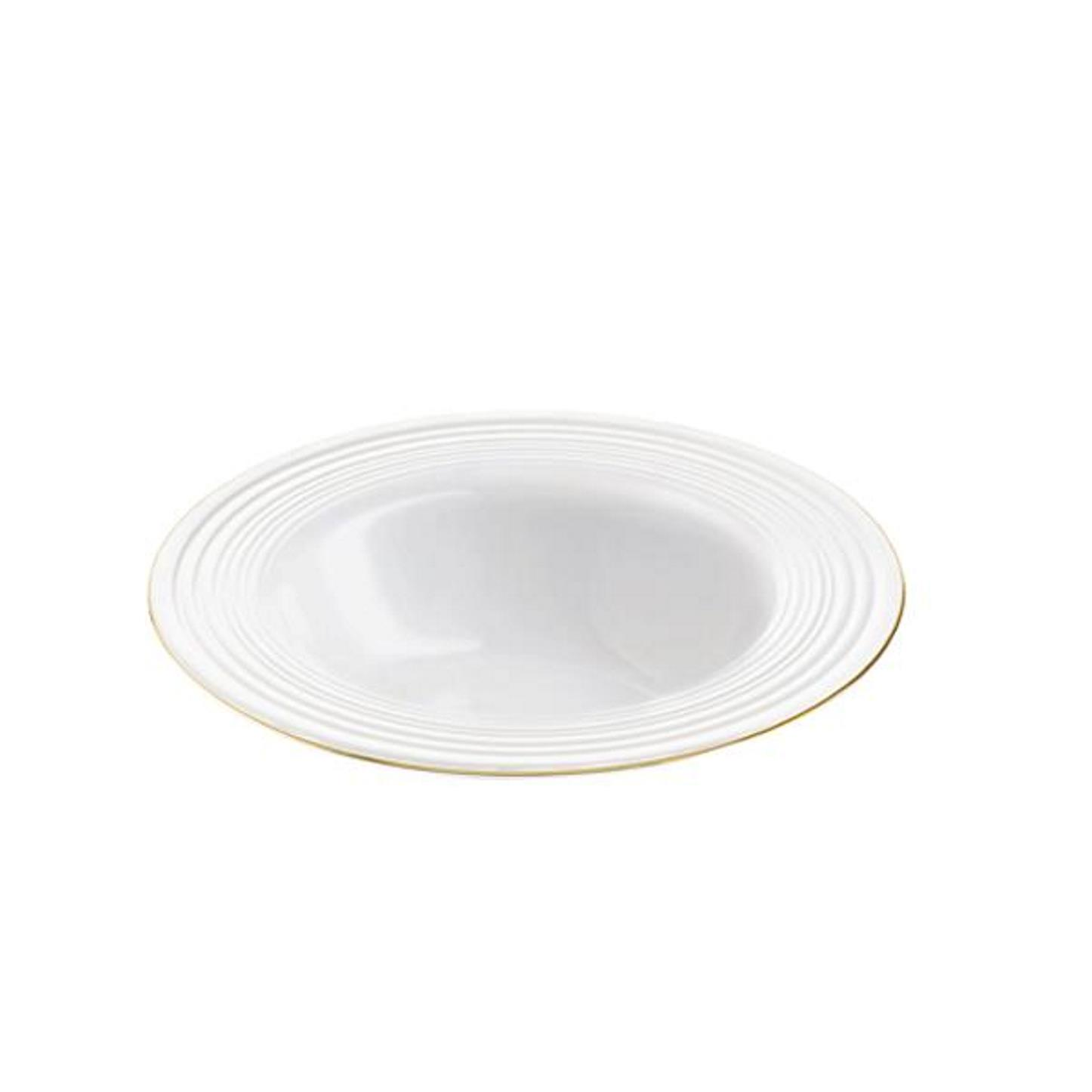 Онлайн каталог PROMENU: Тарелка глубокая Aida PASSION, диаметр 23 см, белый с золотистой каймой                               19474