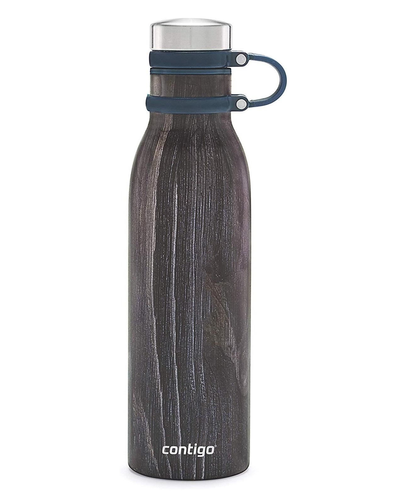 Онлайн каталог PROMENU: Термобутылка Contigo MATTERHORNE COUTURE Indigo Wood, объем 0,59 л, темное дерево Contigo 2104550