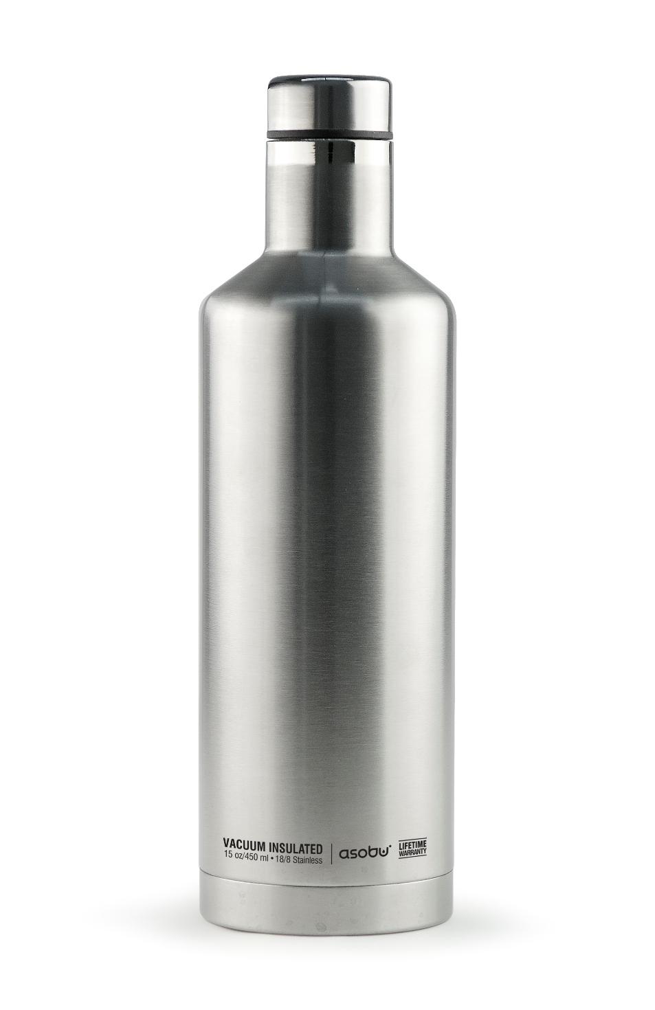 Онлайн каталог PROMENU: Термобутылка Asobu TIMES SQUARE, 0,45 л, серебристый                                   SBV15 SILVER