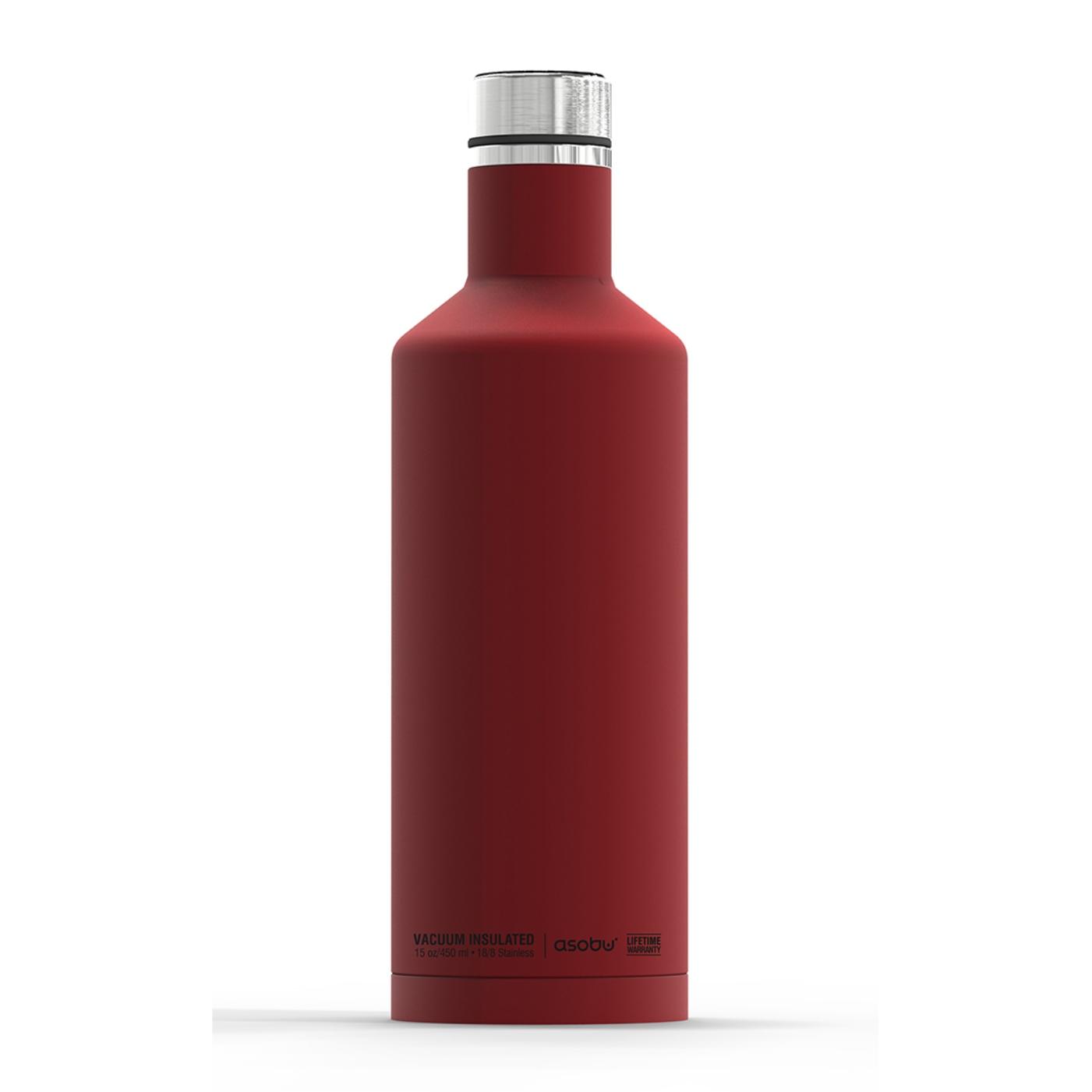Онлайн каталог PROMENU: Термобутылка Asobu TIMES SQUARE, 0,45 л, красный                                   SBV15 RED