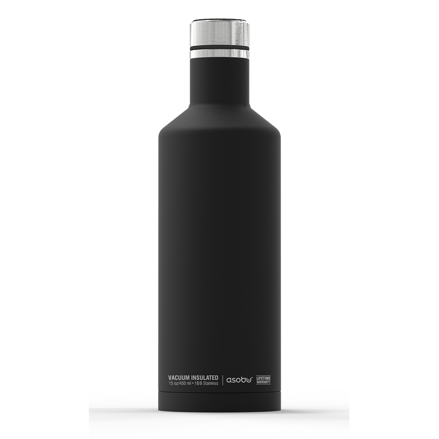 Онлайн каталог PROMENU: Термобутылка Asobu TIMES SQUARE, 0,45 л, черный                                   SBV15 BLACK