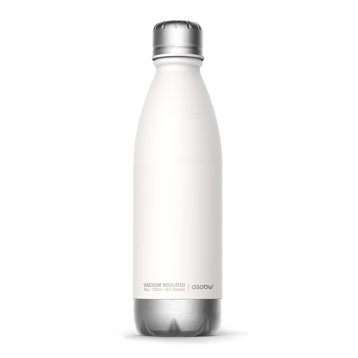 Онлайн каталог PROMENU: Термобутылка Asobu CENTRAL PARK, 0,51 л, белый                                   SBV17 WHITE/SILVER