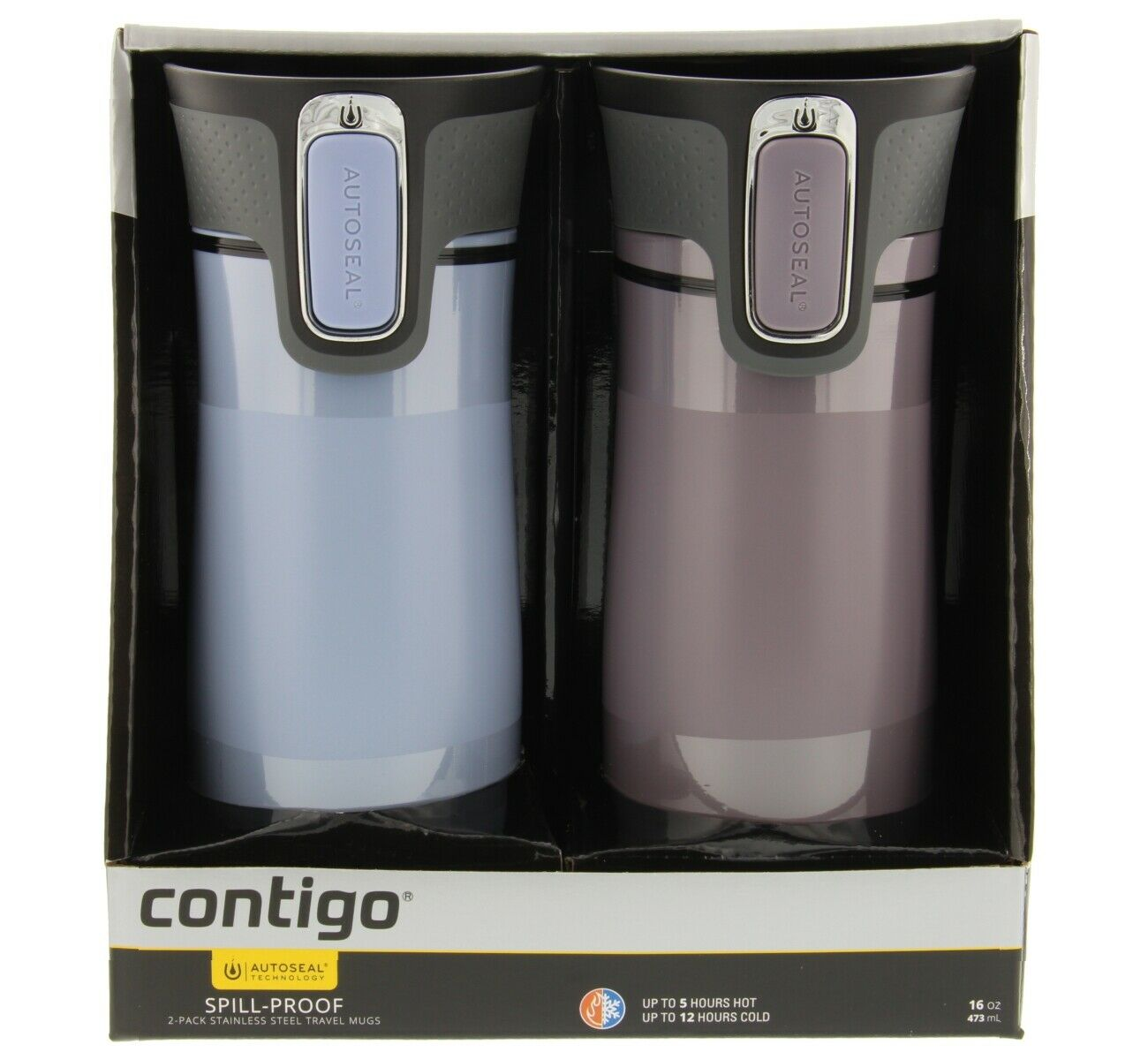 Термостакан Contigo WEST LOOP Dark Plum, объем 0,47 л, светло-сливовый Contigo 2104579 фото 6
