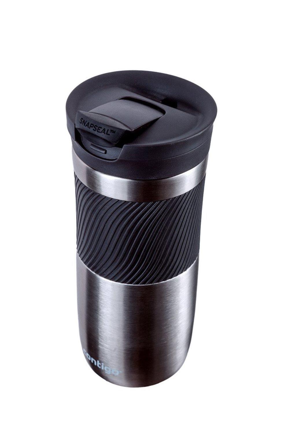 Термостакан Contigo BYRON 16, объем 0,47 л, серебристый с черным Contigo 2095558 фото 1