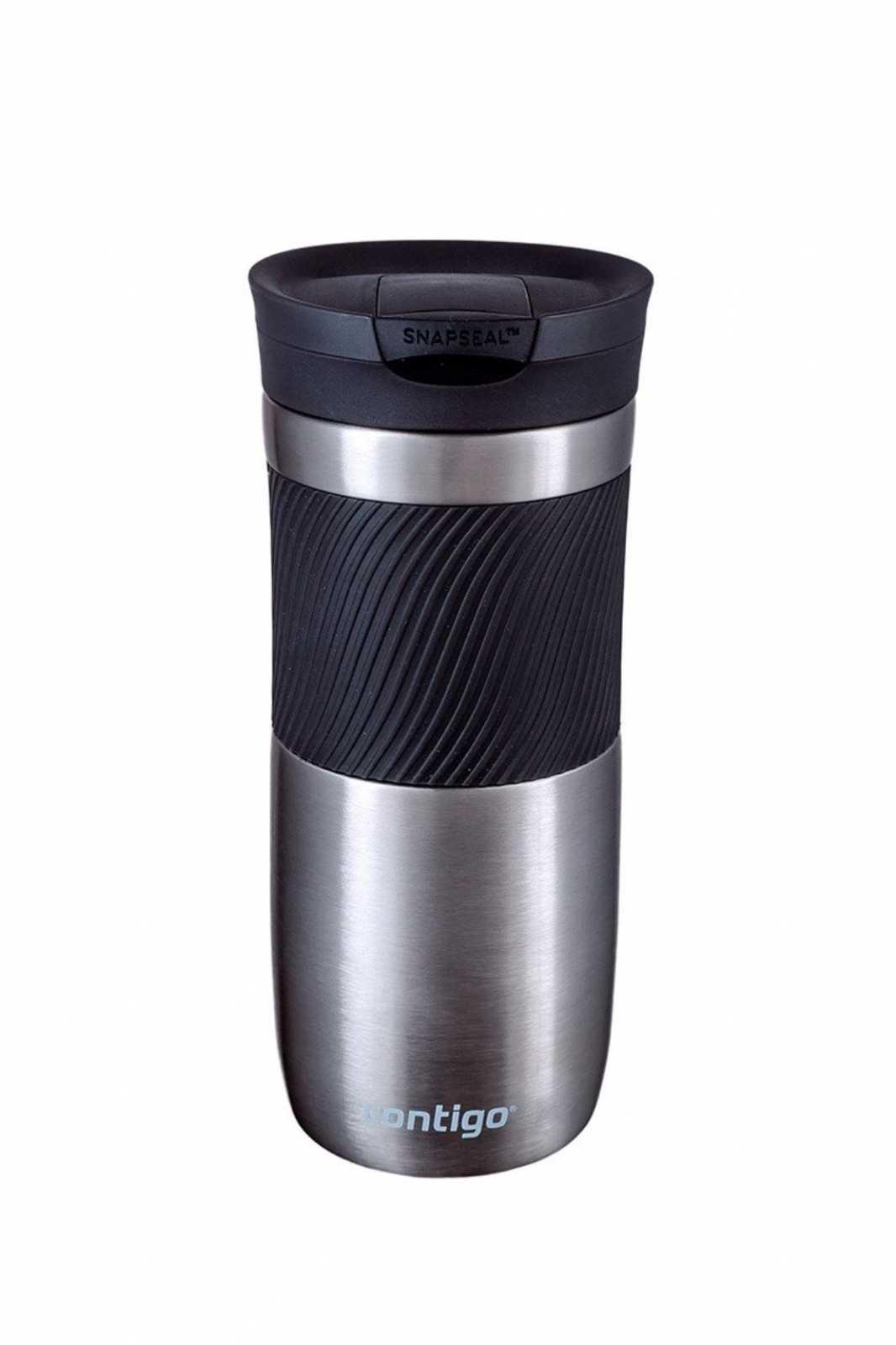 Термостакан Contigo BYRON 16, объем 0,47 л, серебристый с черным Contigo 2095558 фото 5