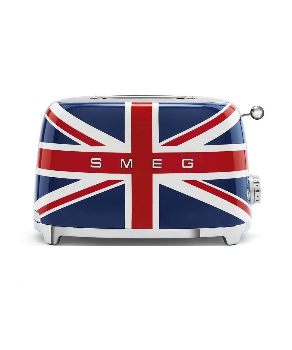 Онлайн каталог PROMENU: Тостер на 2 слота Smeg 50 Style, 19,8х31х19,5 см, британский флаг                               TSF01UJEU