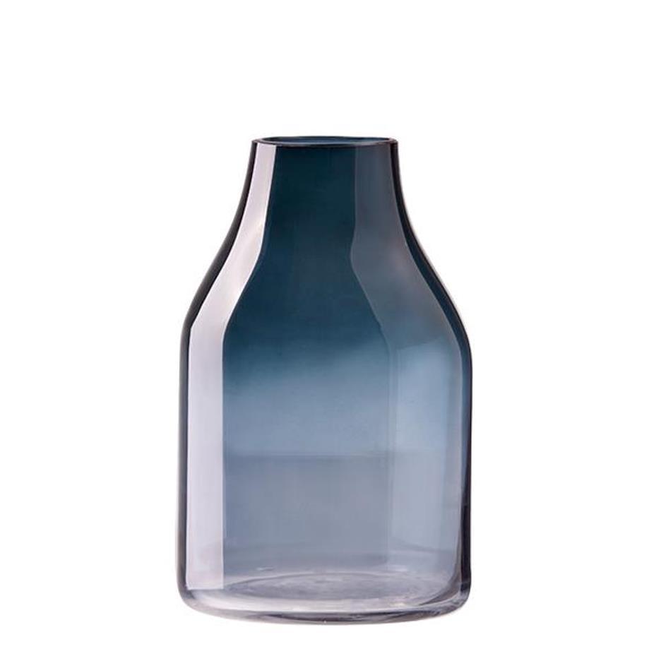 Онлайн каталог PROMENU: Ваза стеклянная Aida DESIGN GLASS, высота 22 см, голубая                               31939