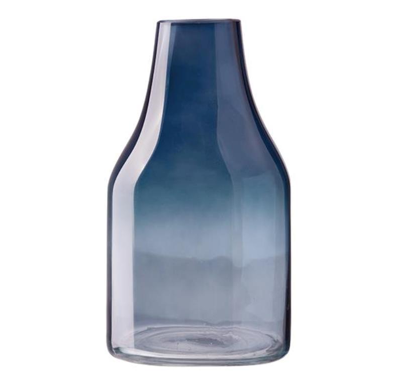 Онлайн каталог PROMENU: Ваза стеклянная Aida DESIGN GLASS, высота 27 см, голубая                               31930