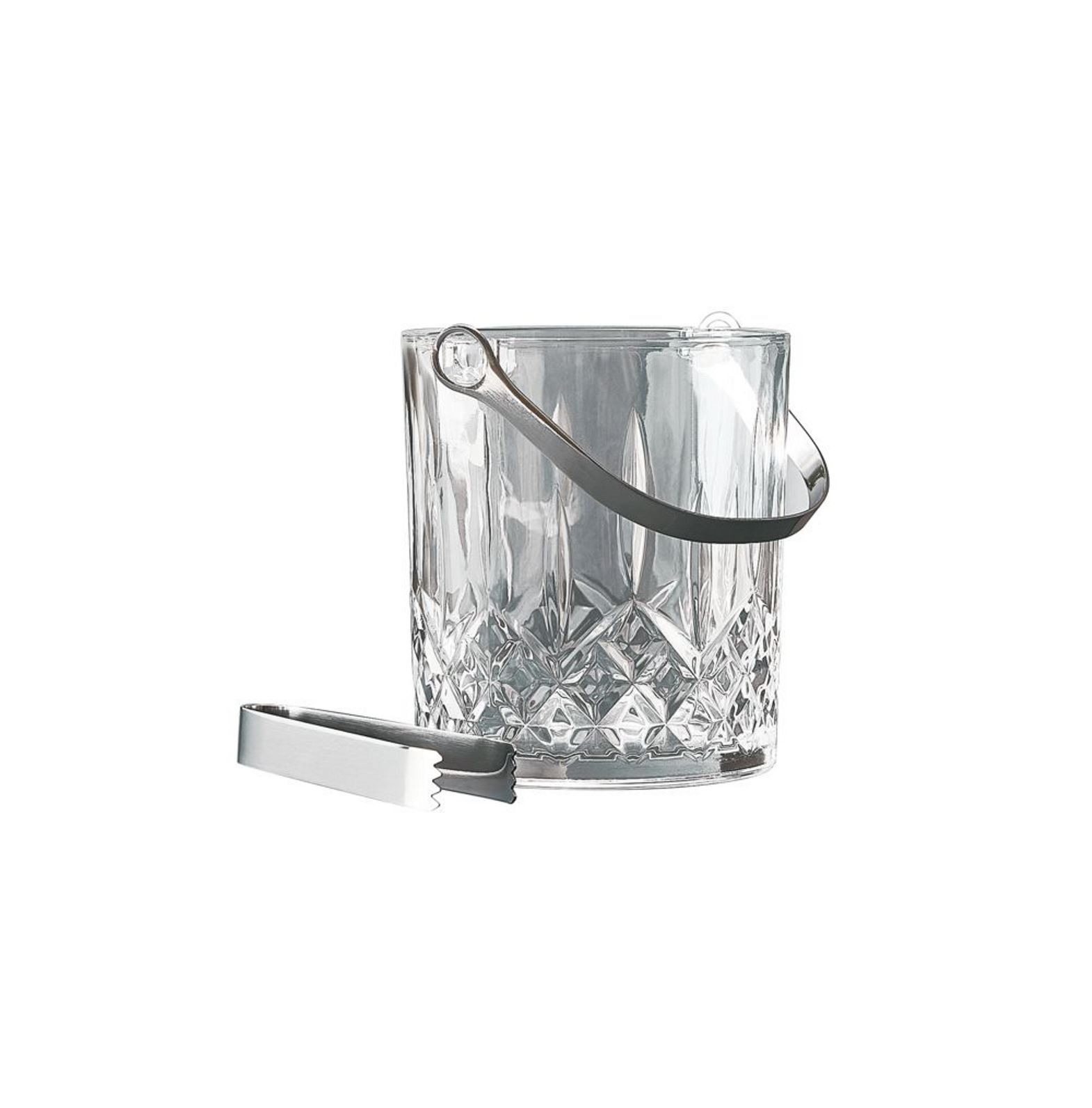 Онлайн каталог PROMENU: Ведерко для льда со щипцами Aida HARVEY, прозрачный, 2 предмета                               80368ks