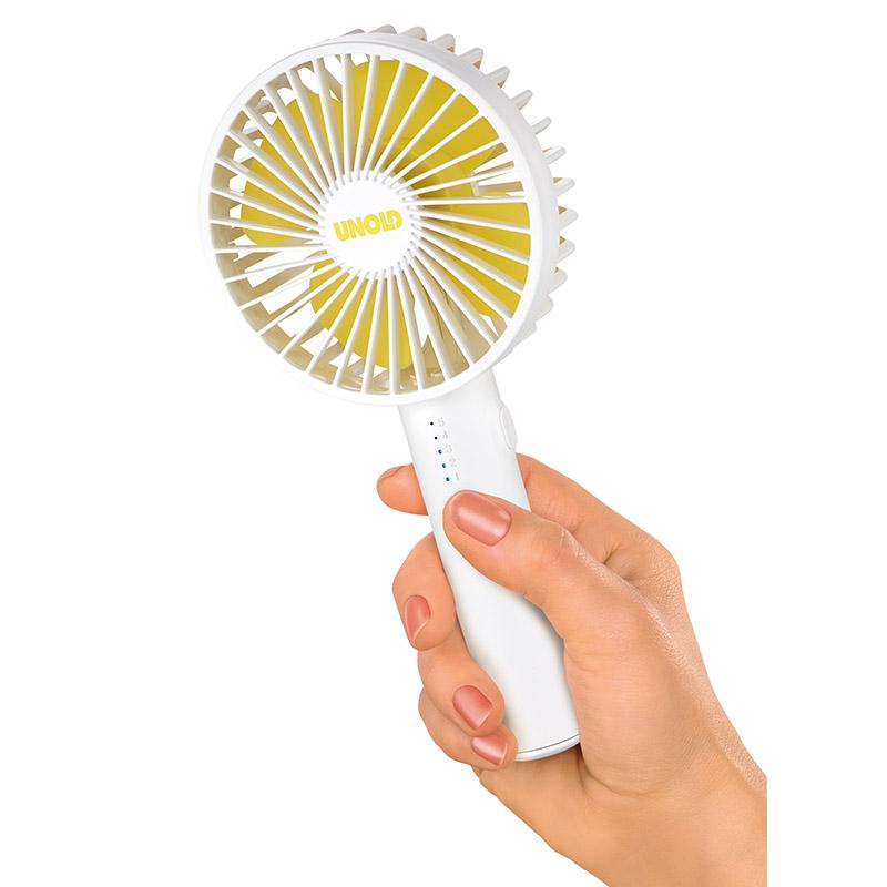 Ручной вентилятор Unold HANDHELD FAN Breezy Swing, высота 21,2 см, белый Unold 86630 фото 5