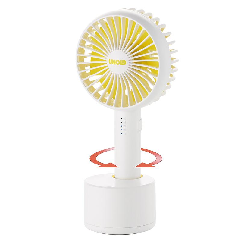 Ручной вентилятор Unold HANDHELD FAN Breezy Swing, высота 21,2 см, белый Unold 86630 фото 3