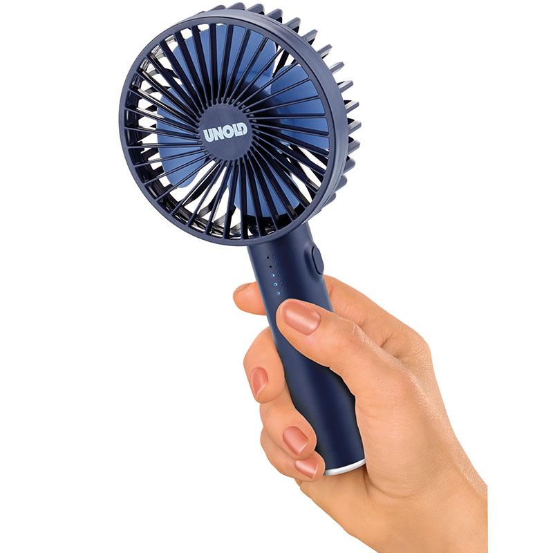 Ручной вентилятор Unold HANDHELD FAN Breezy, высота 20,5 см, синий Unold 86628 фото 5