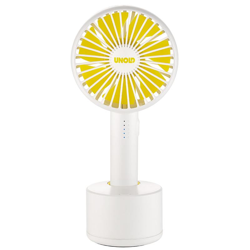 Онлайн каталог PROMENU: Ручной вентилятор Unold HANDHELD FAN Breezy Swing, высота 21,2 см, белый Unold 86630