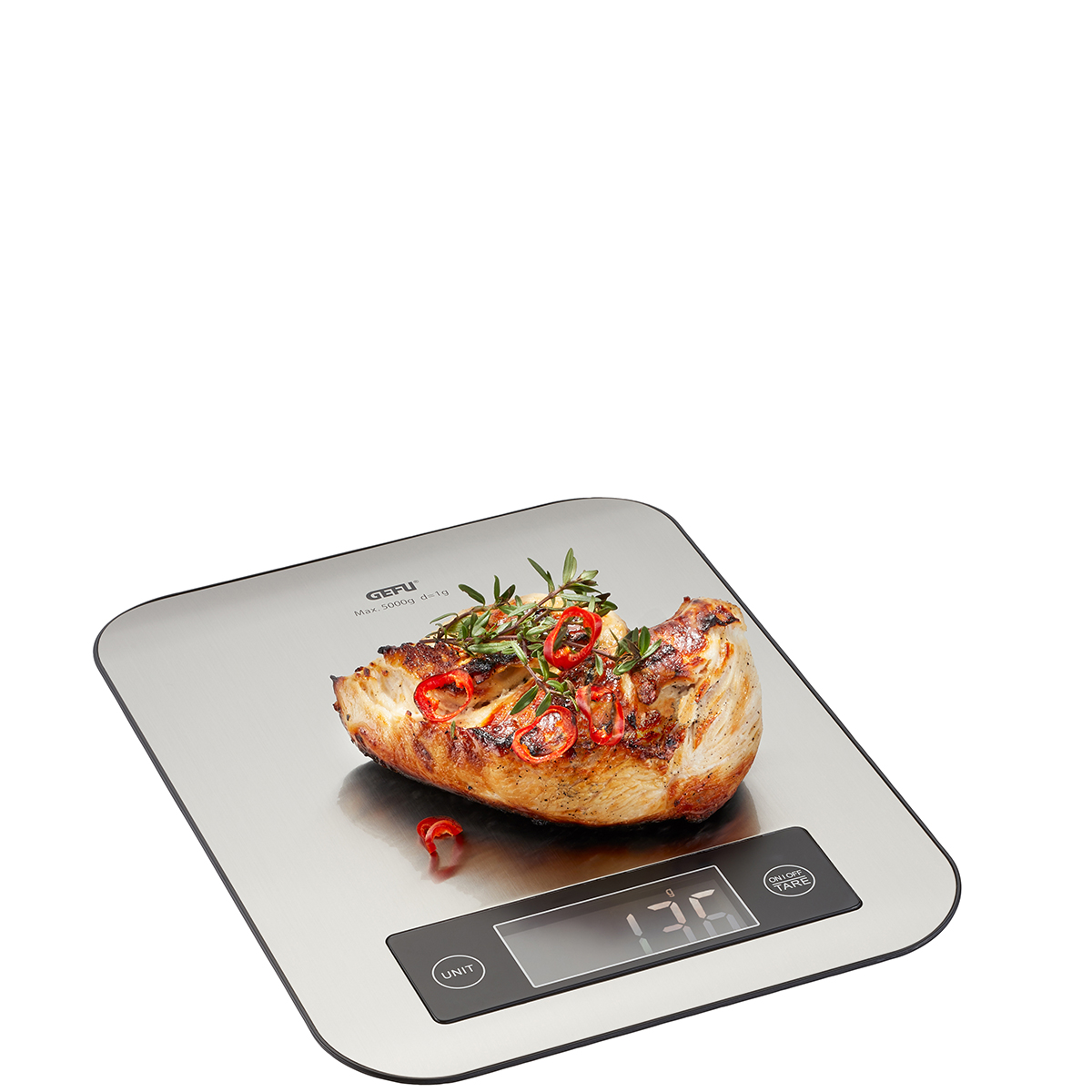 Онлайн каталог PROMENU: Весы электронные GEFU SCORE  Bluetooth Kitchen Scales, 21,4 х 16,5 х 1,7 см  21930